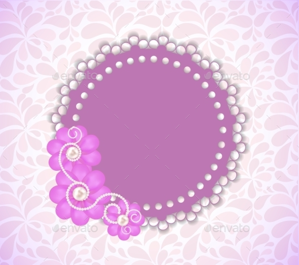 Romantic Flower Frame Background - Web Technology