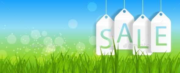 Sale Banner with Place for Your Text - Web Technology