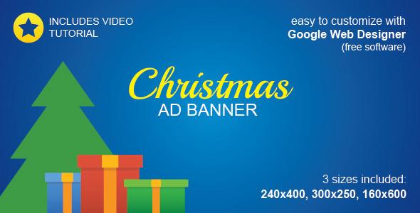 HTML5 Christmas Ad Banner - CodeCanyon Item for Sale