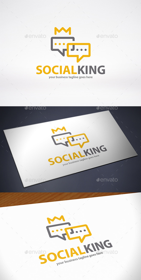King Chat Logo Template - Objects Logo Templates