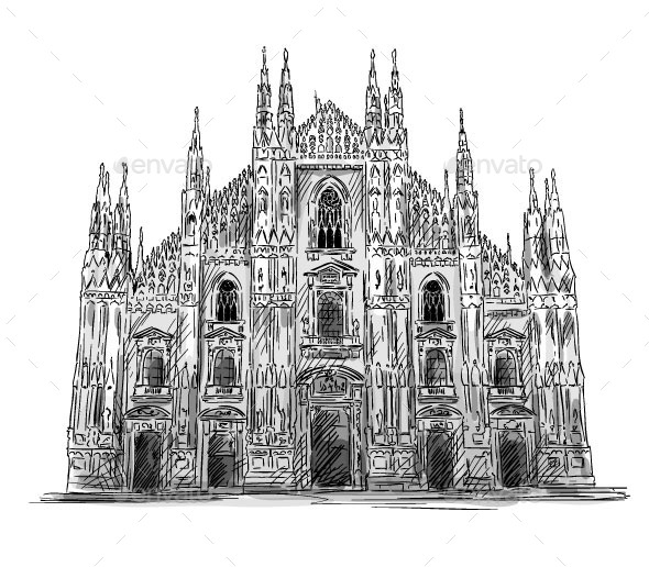 Milan Cathedral - Buildings Objects