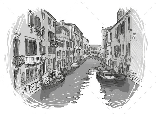 Venice Canal  - Travel Conceptual