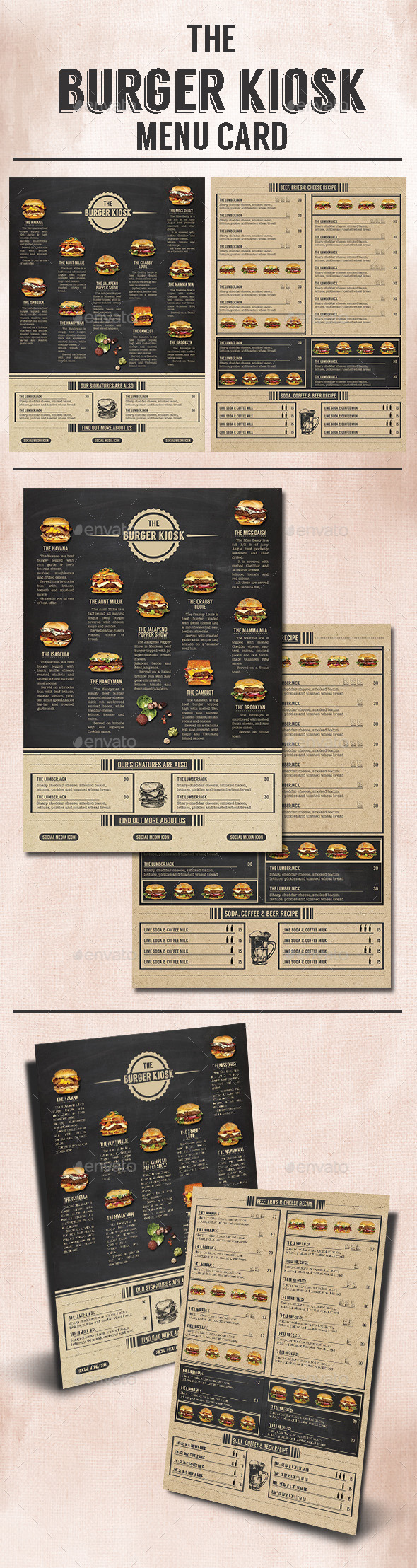 The Burger Kiosk Menu