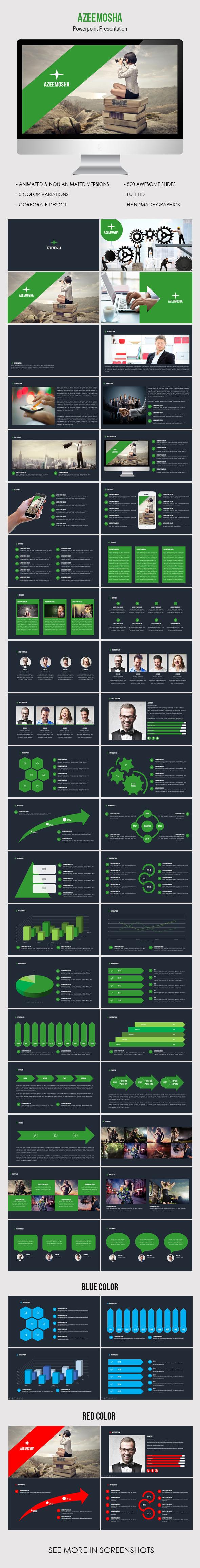 Azeemosha - Powerpoint Presentation Template - Business PowerPoint Templates