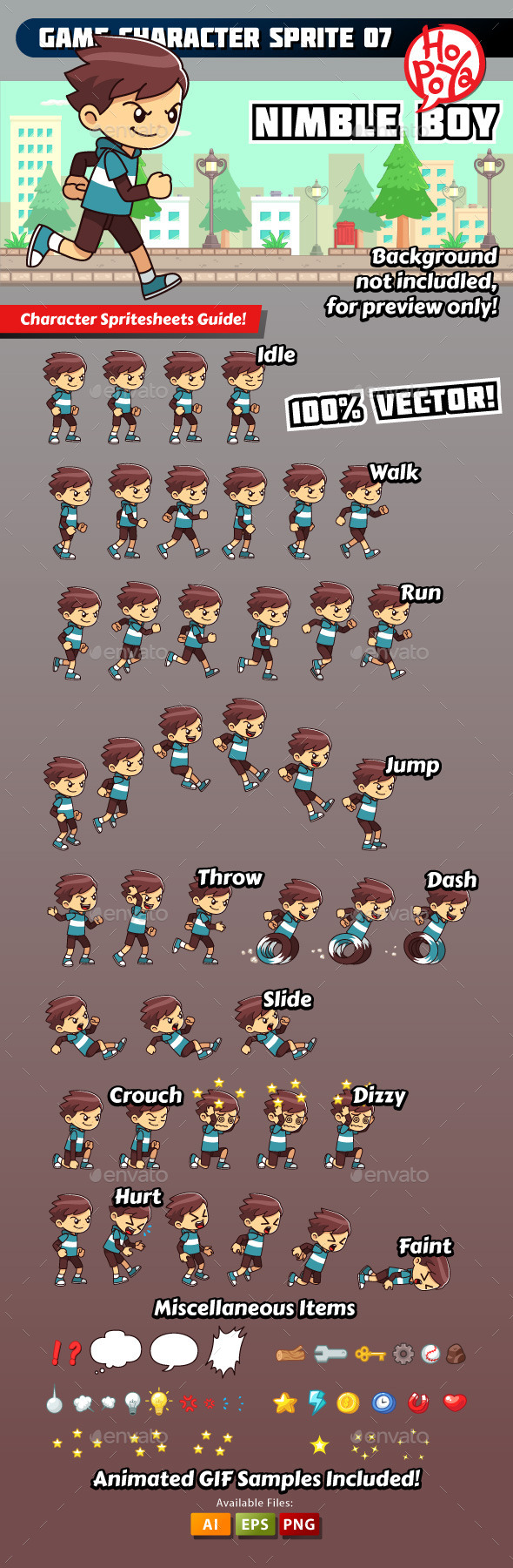 Game Character Sprite 07 - Sprites Game Assets
