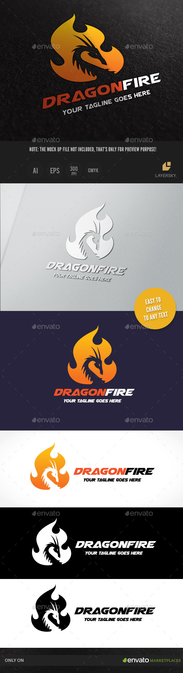Dragon Fire - Crests Logo Templates