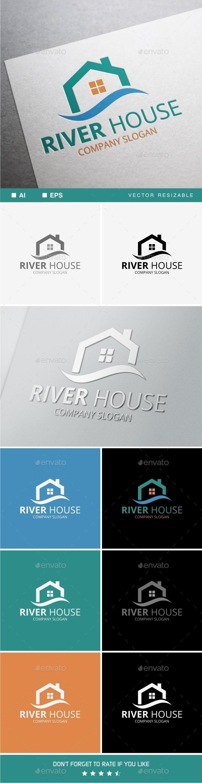 River House Logo - Buildings Logo Templates