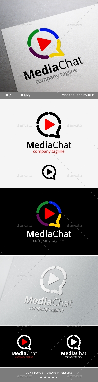 Media Chat Logo - Objects Logo Templates