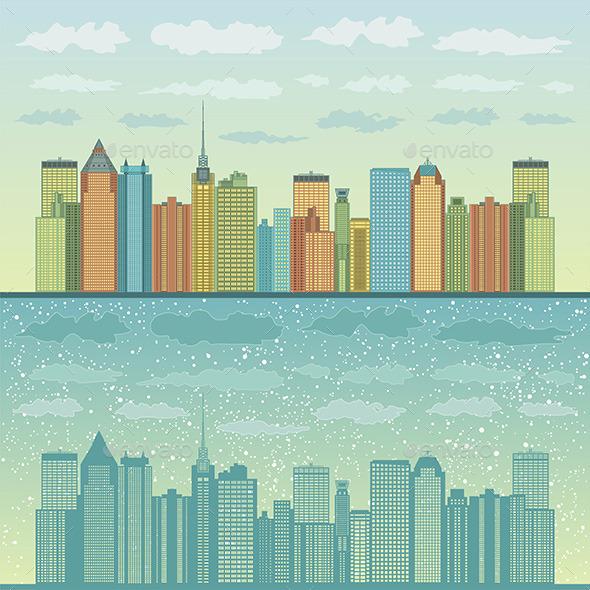 Panorama of Cities - Vectors