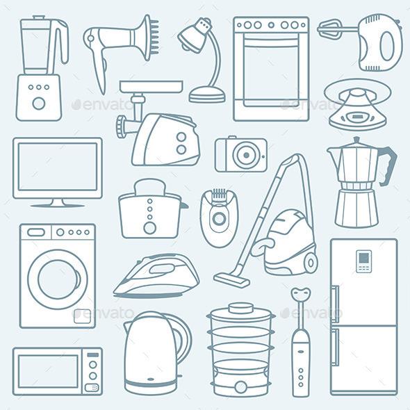 Home Appliances a Background - Technology Conceptual