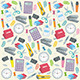 Office Supplies Seamless Background - GraphicRiver Item for Sale