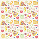 Pizza Seamless Pattern - GraphicRiver Item for Sale