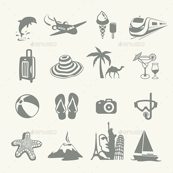 Summer Icons - Travel Conceptual
