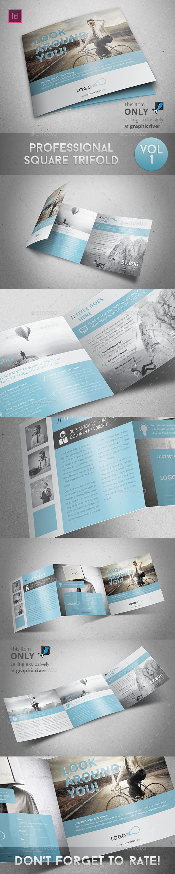 Professional Square Trifold - Corporate Brochures