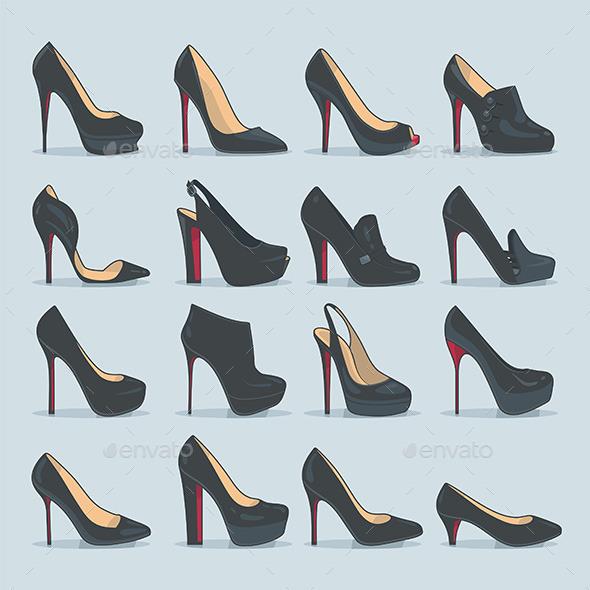 Shoes Set - Vectors