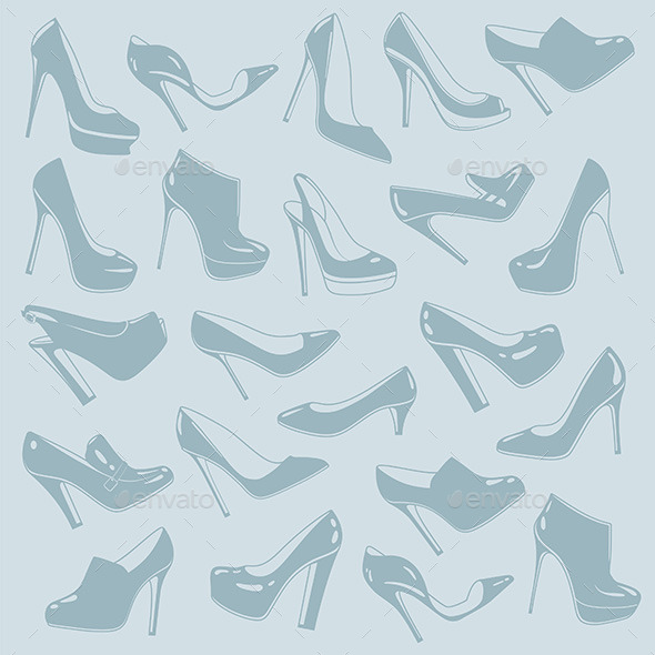 Shoes Pattern - Vectors