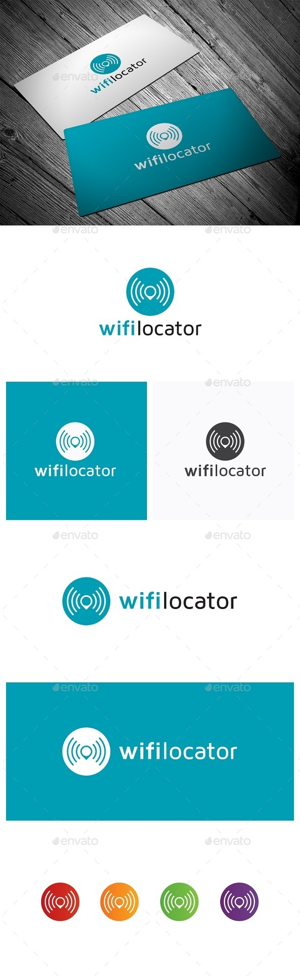 Wifi Locator - Symbols Logo Templates