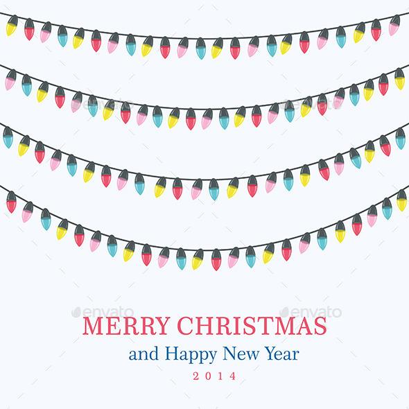 Christmas Lights Background - Seasons/Holidays Conceptual