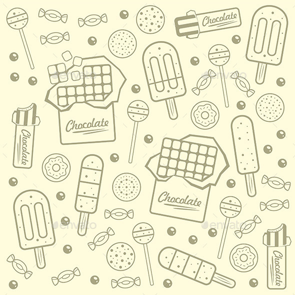 Sweet Seamless Background - Vectors