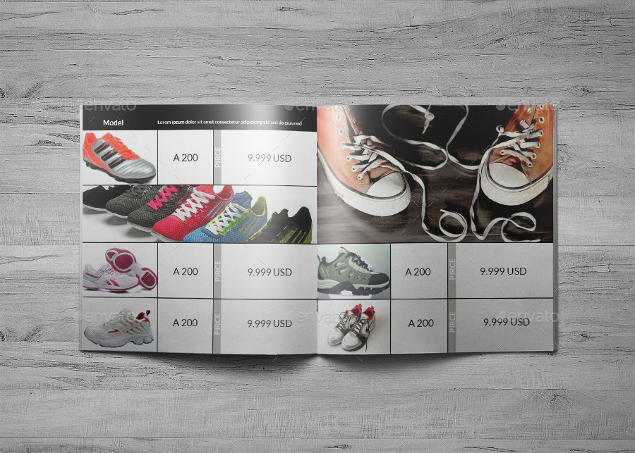 shoes indesign catalog template hp0020 by annozio