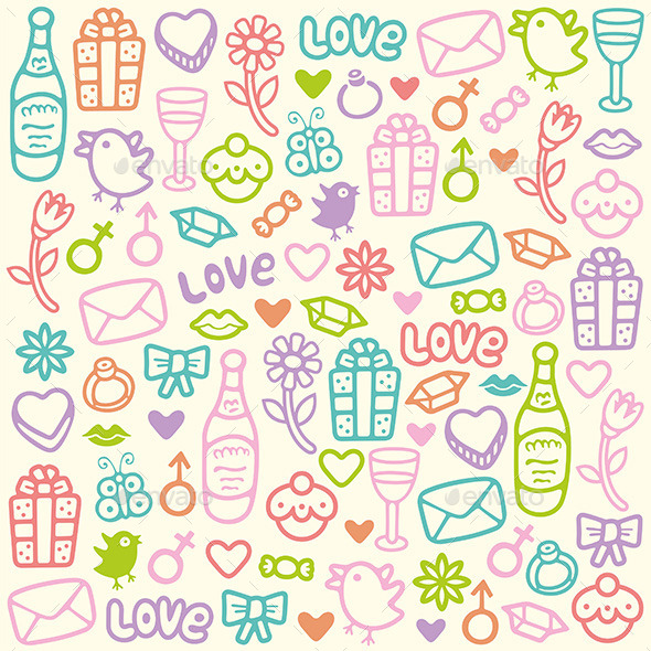 Love Pattern - Valentines Seasons/Holidays