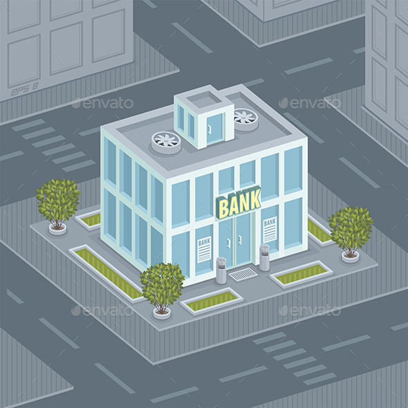 Facade Bank - Buildings Objects