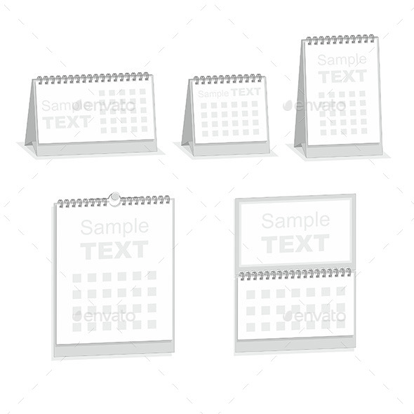 Blank Calendar Isolated on White - Vectors