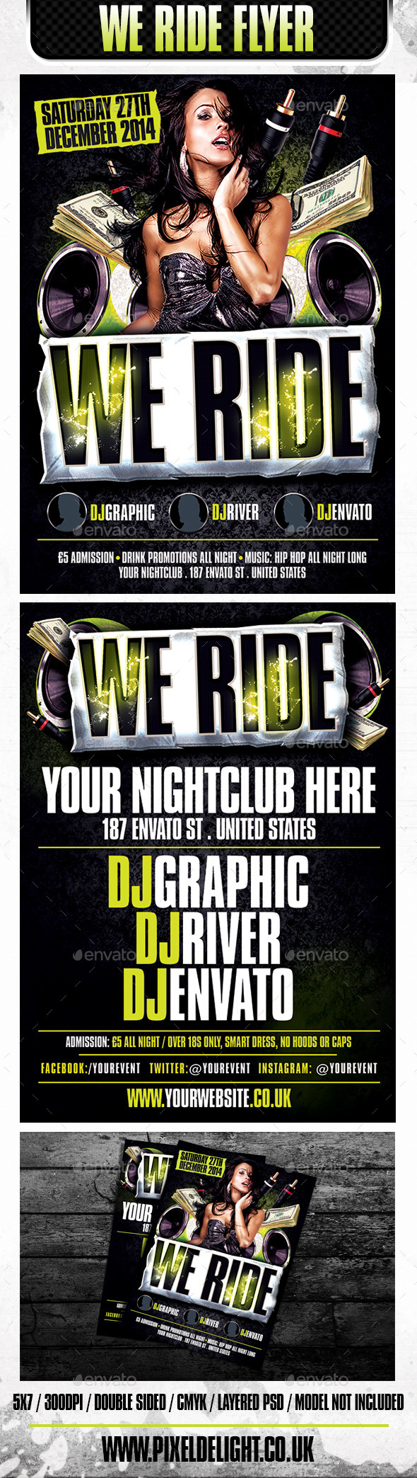 We Ride Club Flyer - Clubs & Parties Events