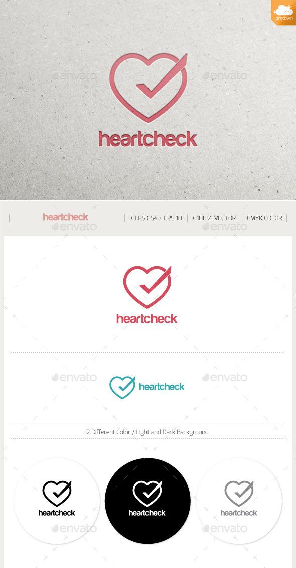 Heart Check - Symbols Logo Templates