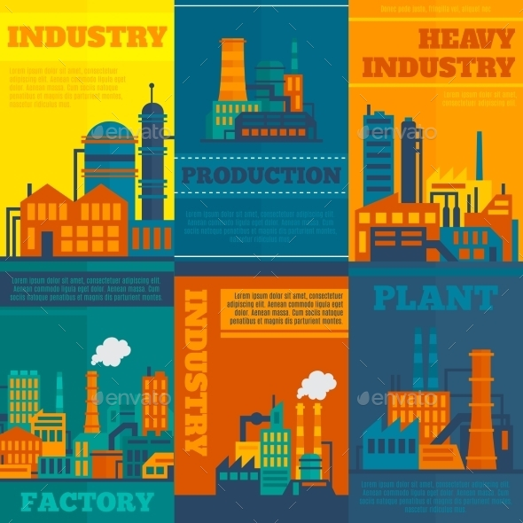 Industry Poster Set - Industries Business
