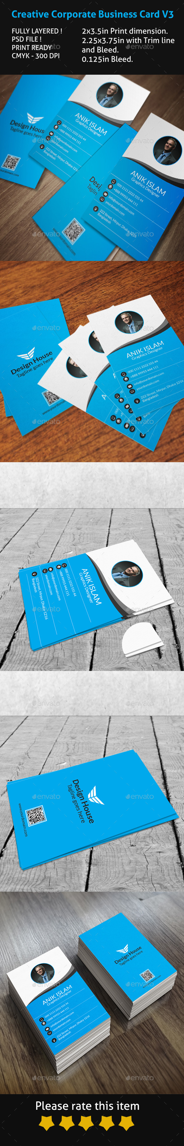 Creative Corporate Business Card V3 - Creative Business Cards