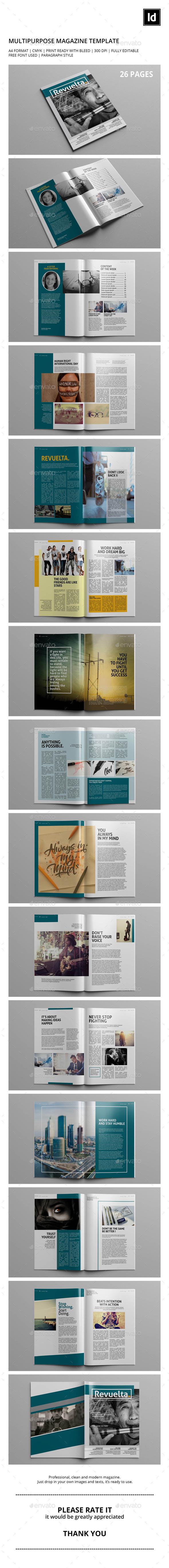Revuelta. Magazine Template - Magazines Print Templates
