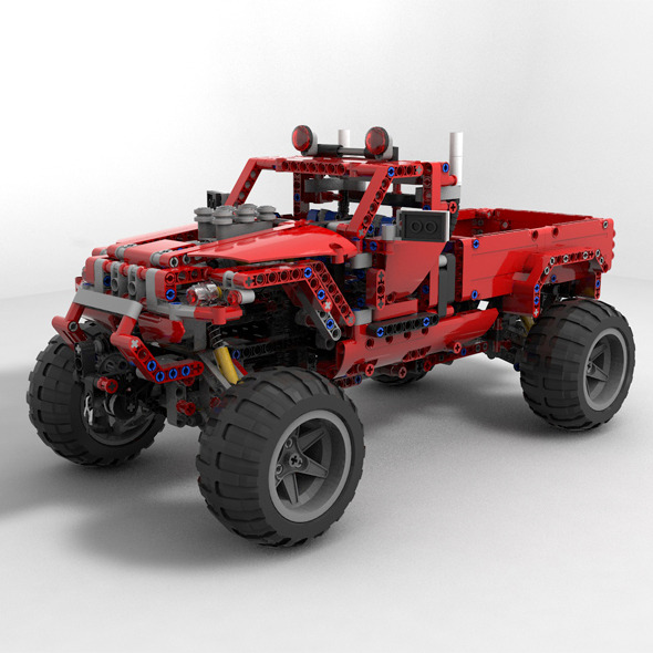 Lego car jeep - 3DOcean Item for Sale