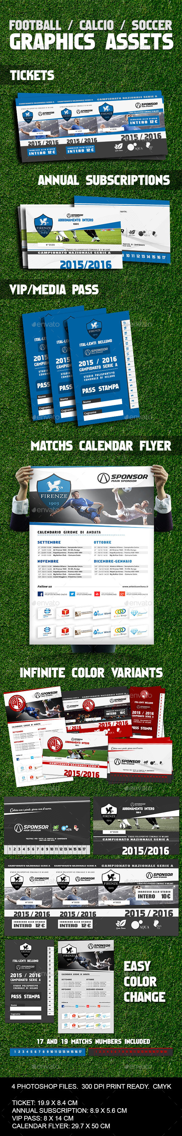 Soccer / Calcio / Football Image Assets - Miscellaneous Print Templates