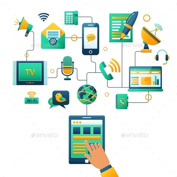 Communication Concept Illustration - Communications Technology