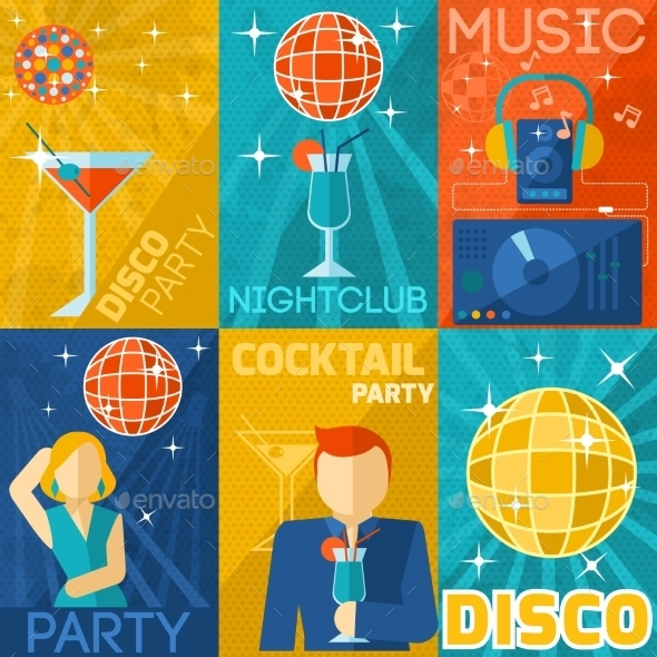 Night Club Poster Set - Miscellaneous Vectors