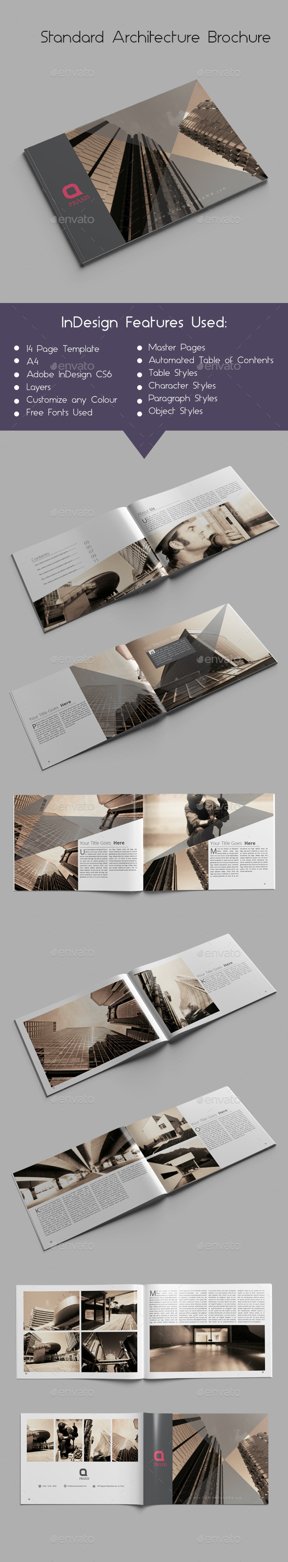 Standard Architecture Brochure - Brochures Print Templates