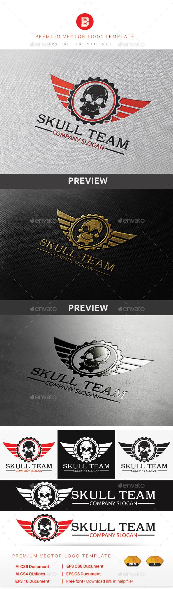 Skull Team - Humans Logo Templates