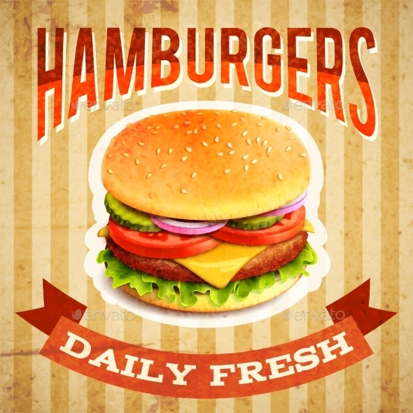 Fast Food Poster - Food Objects