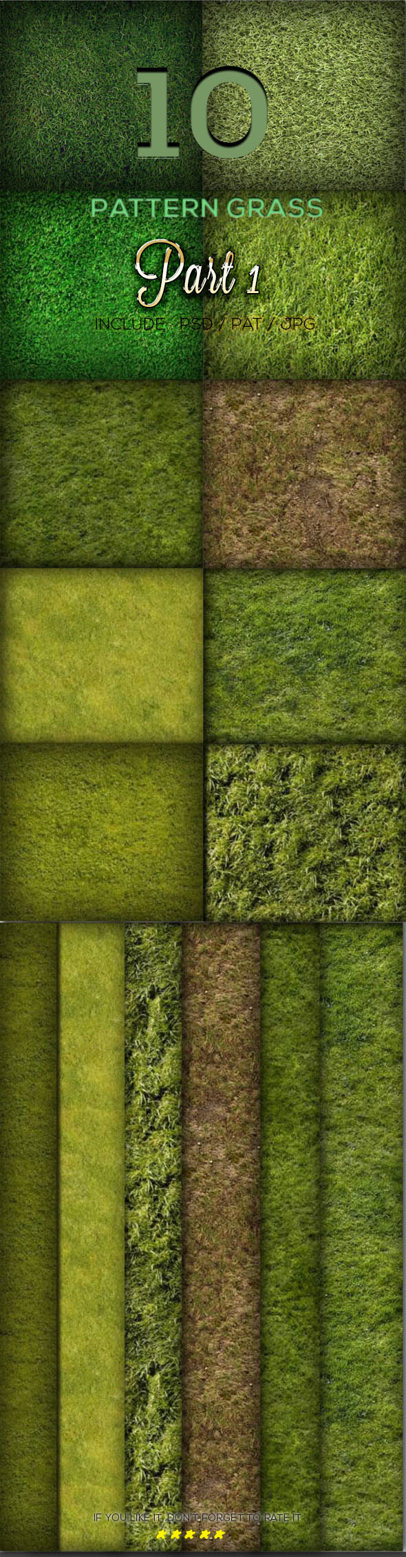 10 Grass Texture Pattern Part 1 - Textures / Fills / Patterns Photoshop