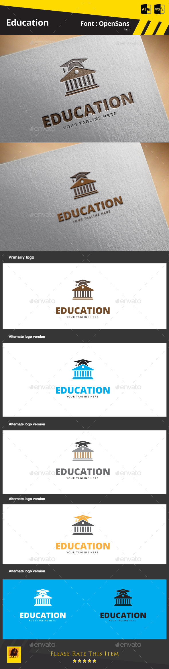 Education Logo Template - Symbols Logo Templates