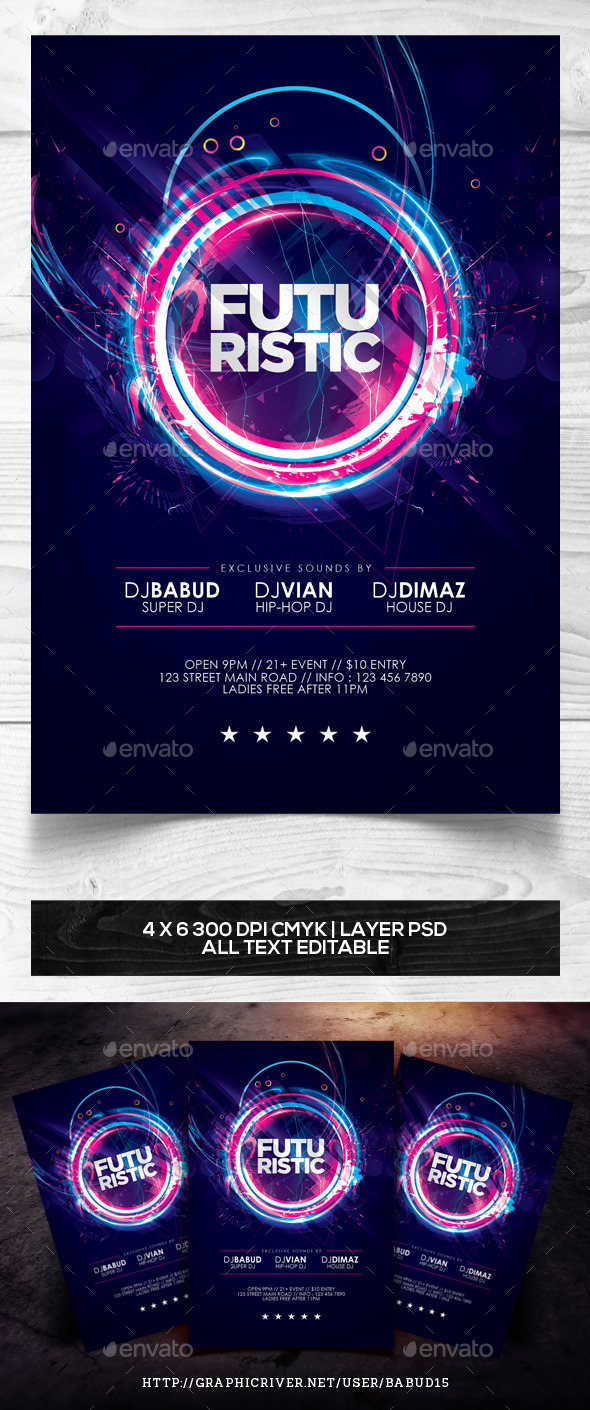 Futuristic Flyer Template - Events Flyers