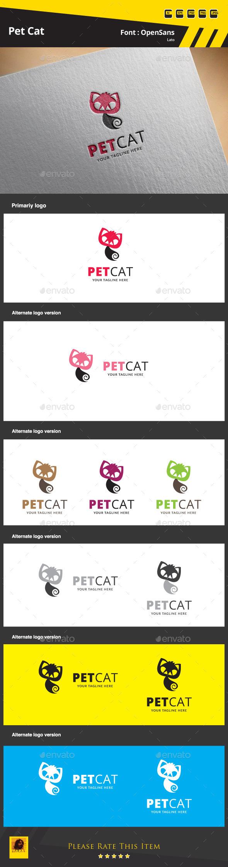 Pet Cat Logo Template - Animals Logo Templates