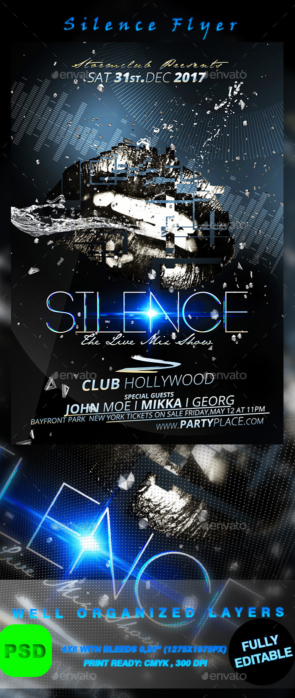 Silence Flyer - Events Flyers