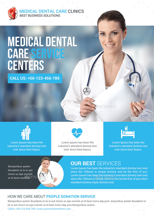 healthcare brochure templates free download - health medical doctors flyer template by