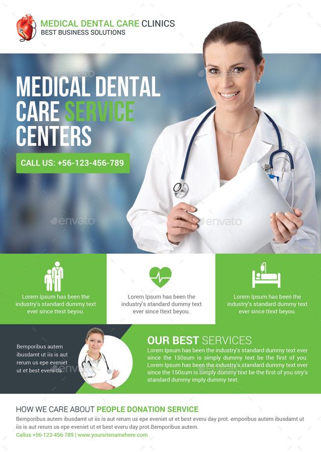 health  u0026 medical doctors flyer template by