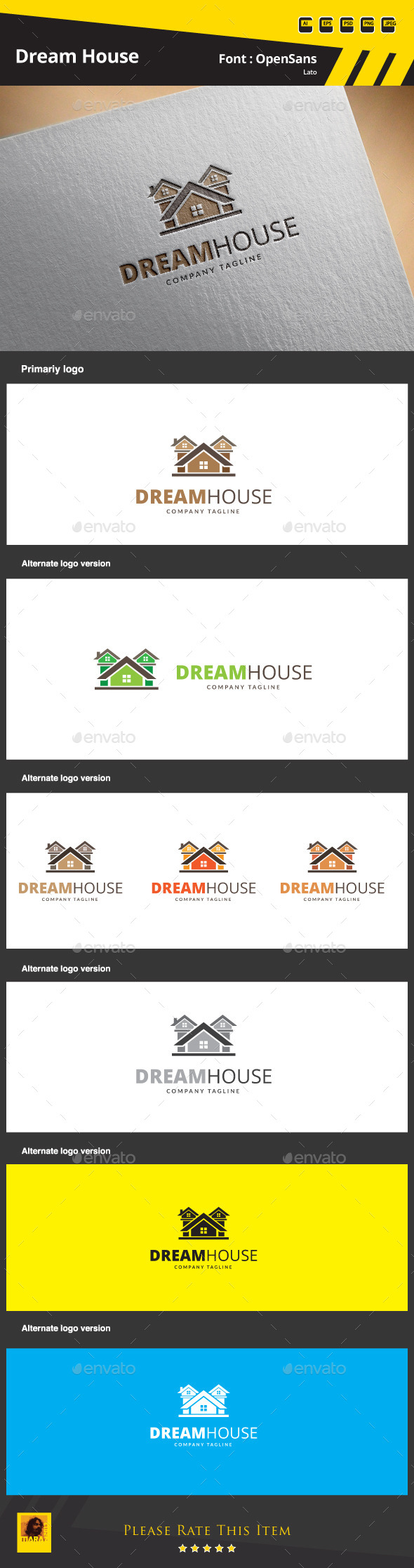 Dream House Logo Template - Buildings Logo Templates