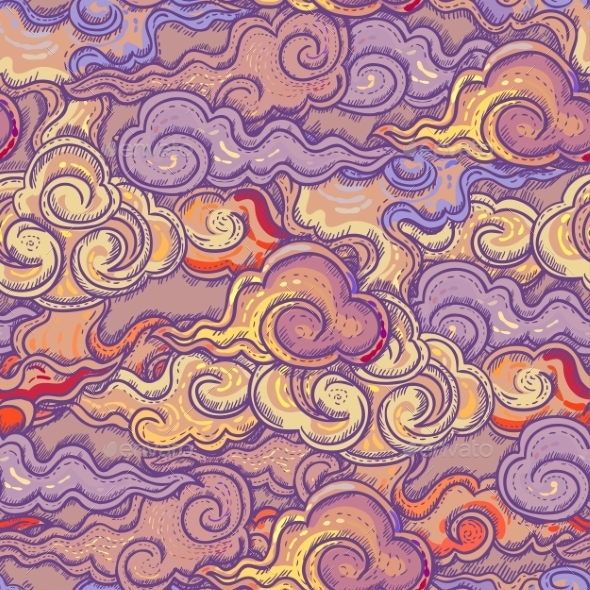 Seamless Abstract Waves Pattern - Patterns Decorative