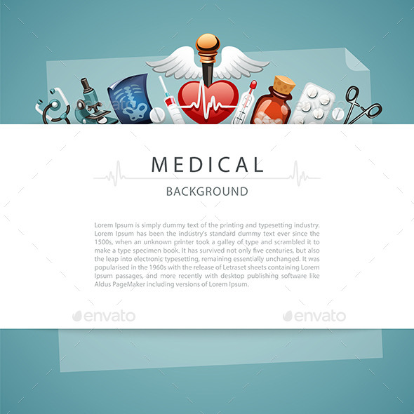 Blue Medical Background with Copy Space - Health/Medicine Conceptual