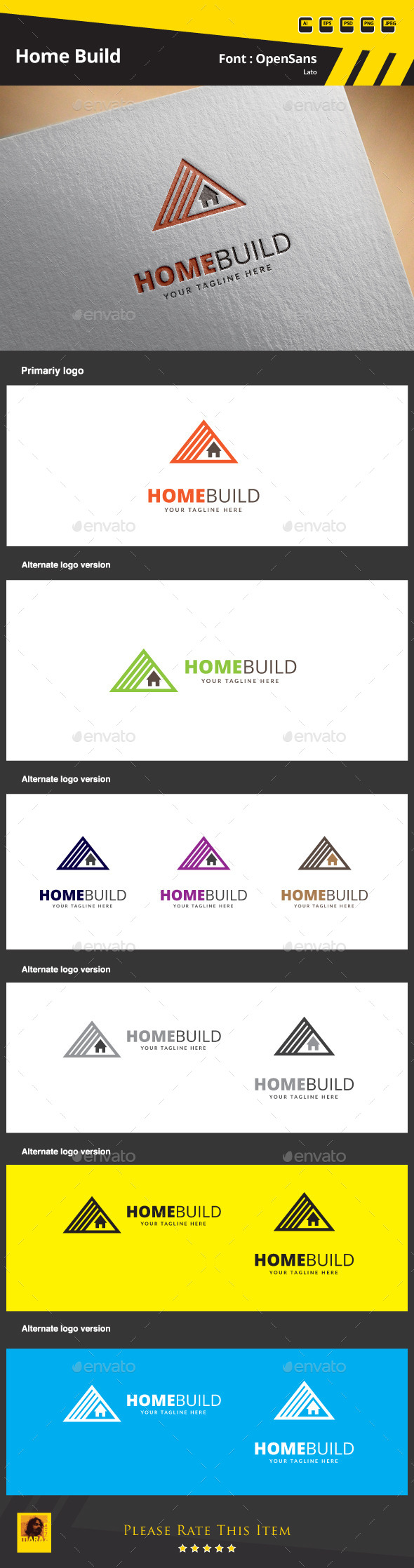 Home Build Logo Template - Buildings Logo Templates